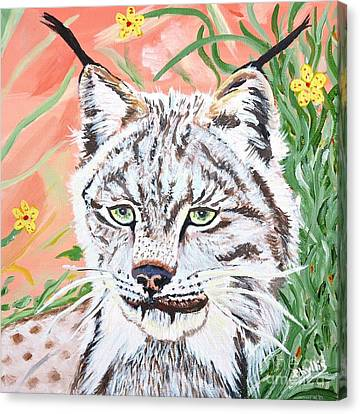 A Sassy Lynx Canvas Print by Phyllis Kaltenbach