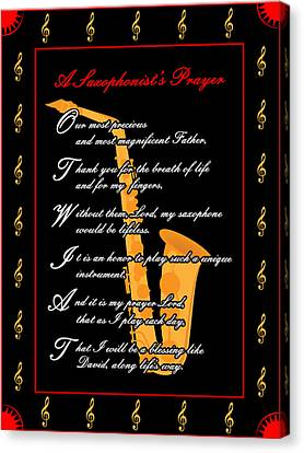 A Saxophonists Prayer_1 Canvas Print by Joe Greenidge
