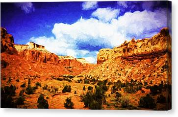 A Scene From Abiquiu Canvas Print by Jim Buchanan
