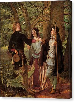 A Scene From As You Like It Canvas Print
