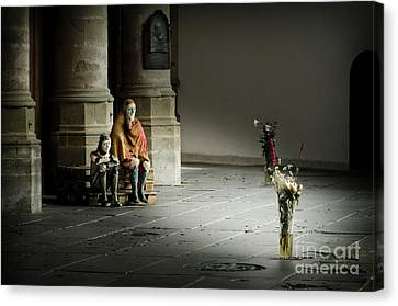 Canvas Print featuring the photograph A Scene In Oude Kerk Amsterdam by RicardMN Photography