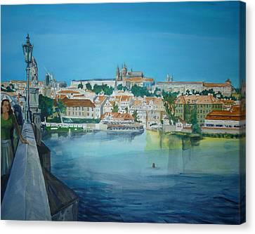 A Scene In Prague 3 Canvas Print