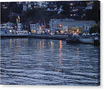 A Scenery Of Sausalito At Dusk Canvas Print
