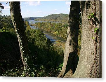A Scenic View Of The Potomac River Canvas Print by Stephen St. John