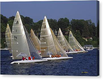A Scow Start - Lake Geneva Wisconsin Canvas Print by Bruce Thompson