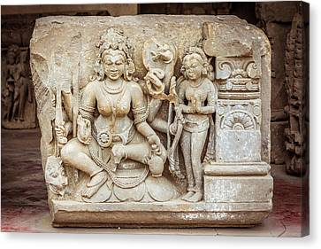 A Sculpture Of Durga In Abhaneri Canvas Print