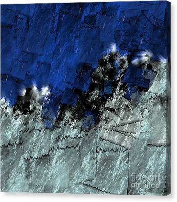 Canvas Print featuring the digital art A Sea Storm In My Heart by Silvia Ganora