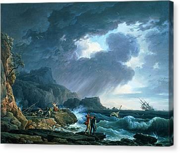 A Seastorm Canvas Print by Claude Joseph Vernet