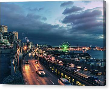 A Seattle Evening Canvas Print