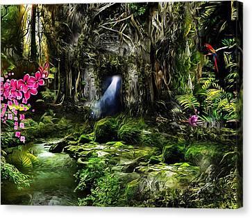 A Secret Place Canvas Print by Gabriella Weninger - David