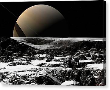 Canvas Print featuring the digital art A Sense Of Scale  by David Robinson