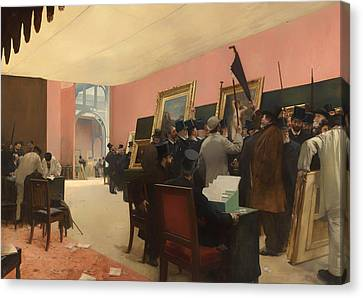 A Session Of The Painting Jury Canvas Print by Mountain Dreams