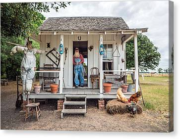 A Sharecropper's Cabin On The George Ranch Historical Park Canvas Print by Carol M Highsmith