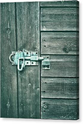A Shed Door Canvas Print by Tom Gowanlock
