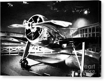 A Shining Example Black And White Canvas Print