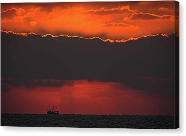 A Ship's Passage Canvas Print by MCM Photography