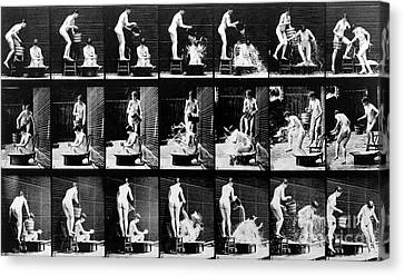 A Shock To The Nervous System Canvas Print by Eadweard Muybridge