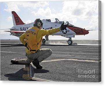 A Shooter Launches A T-45 Goshawk Canvas Print by Stocktrek Images