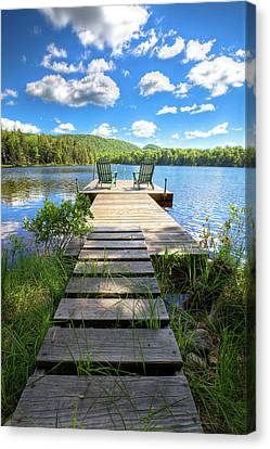 A Short Walk To Paradise  Canvas Print by David Patterson