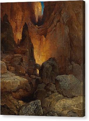 A Side Canyon, Grand Canyon Of Arizona Canvas Print