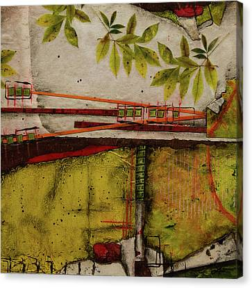 Red Leaf Canvas Print - A Sign Of Change  by Laura Lein-Svencner
