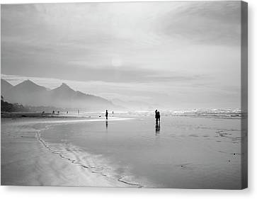 A Silver Day On The Beach Canvas Print by Dan Dooley