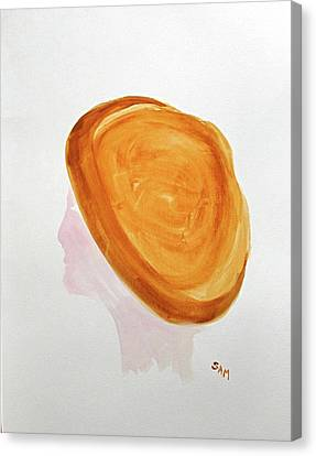 Canvas Print featuring the painting A Simple Hat by Sandy McIntire
