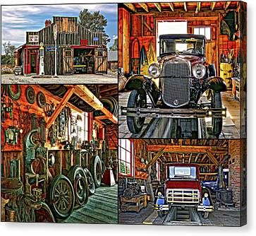 Pioneer Museum Canvas Print - A Simpler Time - Collage by Steve Harrington