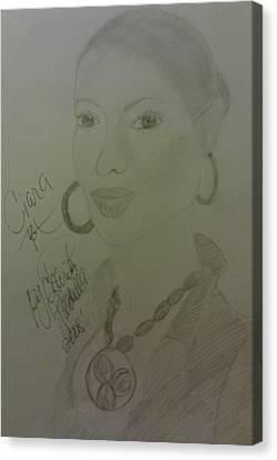 A Singer Ciara Canvas Print