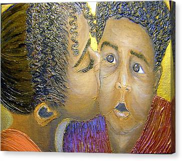 A Sisters Love Canvas Print by Keenya  Woods