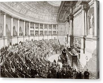 A Sitting Of The French Legislature In Canvas Print by Vintage Design Pics