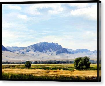 Canvas Print featuring the painting A Sleeping Giant by Susan Kinney
