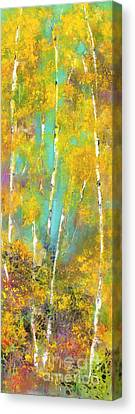 A Slice Of Aspen Canvas Print