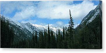 A Slice Of Heaven North Cascades Motivational Artwork By Omashte Canvas Print by Omaste Witkowski
