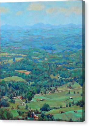 A Slow Summer's Day- View From Roanoke Mountain Canvas Print by Bonnie Mason