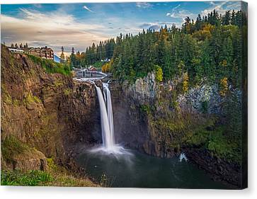 A Snoqualmie Falls  Autumn Canvas Print
