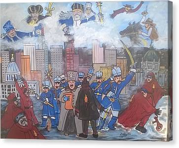 A Snow Blast Invasion  Canvas Print by Richard Hubal