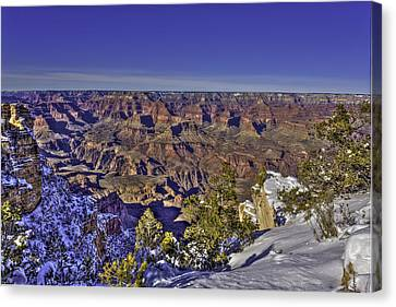 A Snowy Grand Canyon Canvas Print