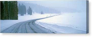 A Snowy Route 14, Near Cedar Breaks Canvas Print by Panoramic Images