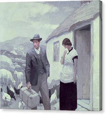 A Son Of His Father  Canvas Print by Newell Convers Wyeth