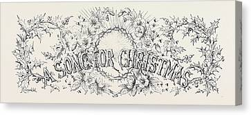A Song For Christmas Canvas Print