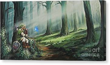 Elves Canvas Print - A Song For Navi by Joe Mandrick
