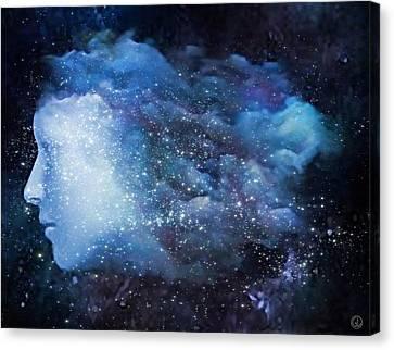 Canvas Print featuring the digital art A Soul In The Sky by Gun Legler