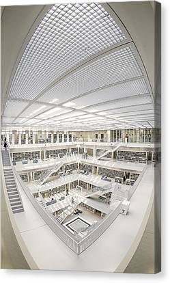 Library Canvas Print - A Space Of Knowledge by Fahad Abdulhameed
