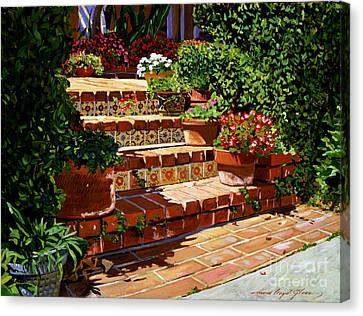 A Spanish Garden Canvas Print by David Lloyd Glover