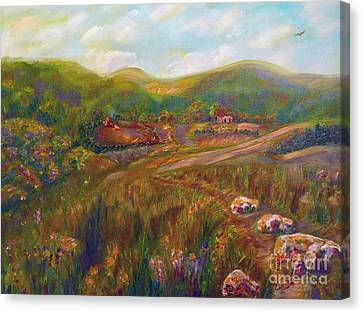 Canvas Print featuring the painting A Special Place by Claire Bull