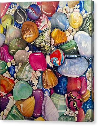 David Hoque Canvas Print - A Splash Of Color And Hardness by David Hoque
