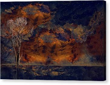 A Splash Of Serene Canvas Print by Art Spectrum