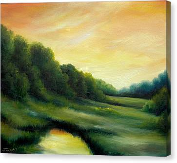 A Spring Evening Part Two Canvas Print by James Christopher Hill