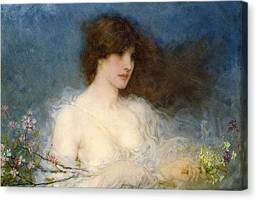 A Spring Idyll Canvas Print by George Henry Boughton